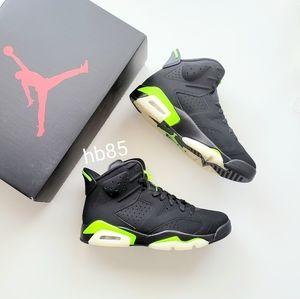 Air Jordan 6 Retro Black Electric Green Men's 8.5/Women's 10